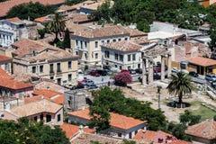 marknadsplats forntida athens greece Royaltyfri Foto