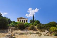 marknadsplats forntida athens greece Arkivbild