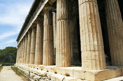 marknadsplats gammala athens Arkivbild