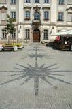 Marknadsplats i den Jelenia Gora staden Arkivbilder