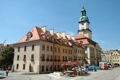 Marknadsplats i den Jelenia Gora staden Royaltyfri Fotografi