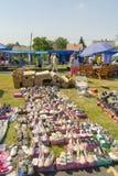 Marknadsplats i Dombovar Royaltyfria Bilder