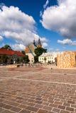 Marknadsplats i Olkusz Polen Royaltyfri Fotografi