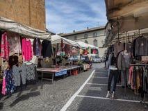 Marknadsplats i Orvieto Umbria Arkivbilder