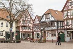 Marknadsplats i staden Arkivbilder