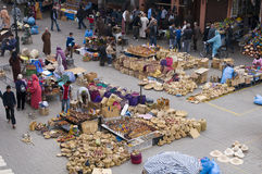 marknadsplats marrakesh morocco Arkivfoton