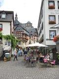 Marknadsplatsfyrkant i den Beilstein byn, Tyskland Royaltyfri Bild