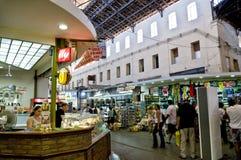 Marknadsplatsmatmarknad i Chania, Kreta, Grekland Royaltyfri Fotografi
