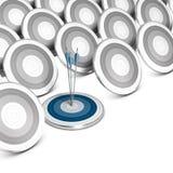 Marknadssegmentering som uppsätta som mål och placerar. Arkivfoto