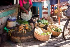 Marknadsställe, Granada, Nicaragua Arkivbild