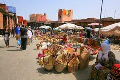 Marknadsställe i Marrakesh Royaltyfri Fotografi