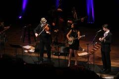 MarkO'Conner. Mark O'Conner   band at the Arlene Schnitzer Concert Hall December 22,2014 Royalty Free Stock Photos