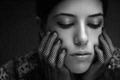 Markotna mody dziewczyna Fotografia Stock