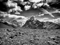 Markotna panorama góra Fitz Roy w Patagonia obraz stock