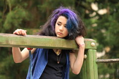 Markotny nastolatek zdjęcia stock
