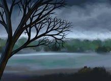 Markotny Szary Niebo - Cyfrowego Obraz ilustracji