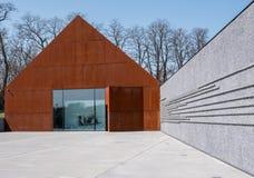 Markowa Polen Het Museum van de Ulmafamilie van Polen die die Joden in Wereldoorlog II redden door Nizio Design wordt ontworpen royalty-vrije stock foto's