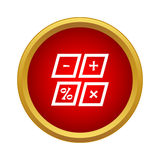 Marks calculation icon, simple style Stock Images