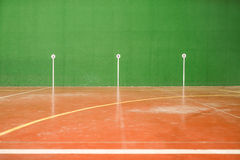 Marks in an fronton court Royalty Free Stock Image