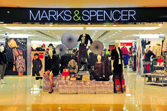 Marks & Spencer, hong kong. Womens winter clothings on display at the marks & spencer retail outlet located at cityplaza in hong kong Royalty Free Stock Image