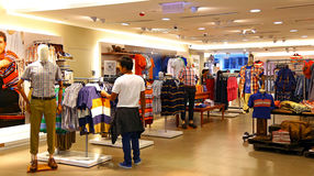 Marks & spencer, hong kong. Summer clothings on display at the marks & spencer retail outlet in hong kong Stock Photos