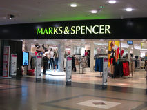 Marks and Spencer store. Stock Image