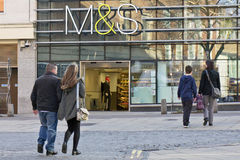 Marks and Spencer. NORWICH, UK - FEBRUARY 21, 2014: Large branch of the Marks and Spencer department store chain in Norwich city centre Stock Images