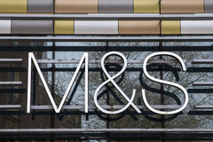 Marks and Spencer Sign Royalty Free Stock Images
