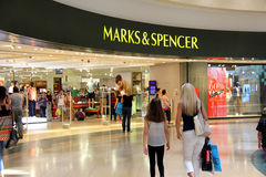 Marks and Spencer store. Royalty Free Stock Images