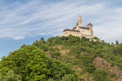 Marksburg Castle at Braubach in Rhine Valley, Germany - UNESCO World Heritage Site Royalty Free Stock Photography