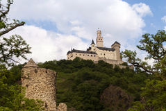 Marksburg Castle at the River Rhine Stock Photography