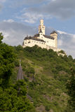 Marksburg Castle at the River Rhine Stock Photo