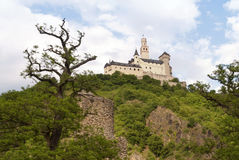 Marksburg Castle at the River Rhine Royalty Free Stock Images