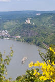 Marksburg Castle at the River Rhine Royalty Free Stock Photo