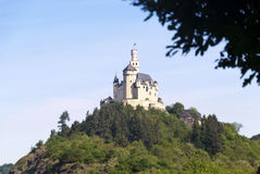 Marksburg Castle at the River Rhine Royalty Free Stock Image