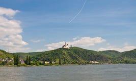 marksburg Rhine dolina Fotografia Royalty Free