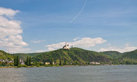 Marksburg in rhine valley  Royalty Free Stock Photography