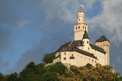 Marksburg slott Royaltyfri Bild