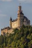 Marksburgkasteel in Braubach in Rijn-Vallei, Duitsland - Unesco-de Plaats van de Werelderfenis Royalty-vrije Stock Foto