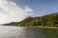 Marksburgkasteel in Braubach in Rijn-Vallei, Duitsland - Unesco-de Plaats van de Werelderfenis Royalty-vrije Stock Afbeelding