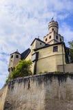 Marksburgkasteel dichtbij koblenz, Duitsland Stock Afbeelding