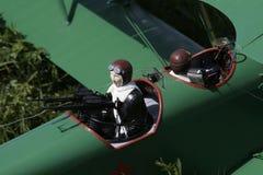 Marksman in biplane royalty free stock images