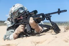 Free Marksman In Action Stock Image - 55352781