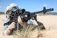 Free Marksman In Action Stock Photo - 55352790