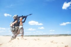 Free Marksman In Action Stock Image - 55352801