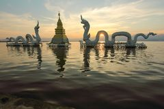 Markstein bei Phayao Stockbild