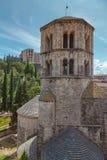 Markstein in einer spanischen Stadt Gerona Lizenzfreie Stockfotos