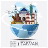 Markstein-globale Reise-und Reise-Informationen Taiwans die Republik China Lizenzfreie Stockfotos