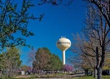 Markstein in Mittags-ikonenhaftem Wasserturm Idahos Lizenzfreies Stockbild
