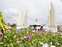 Markstein in Thailand- und Bangkok-Ansicht stockfotografie